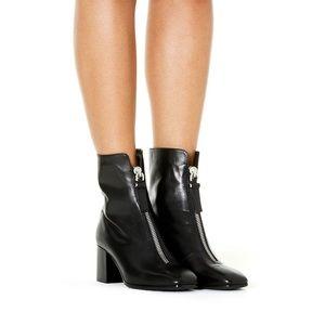 New Aquatalia Camden Leather Front-Zip Booties